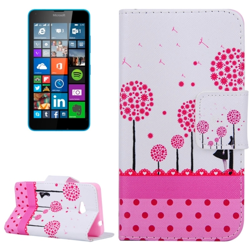 Dandelion Pattern Flip Leather Wallet Case for Microsoft Lumia 640 with Card Slots & Stand (Pattern 5)