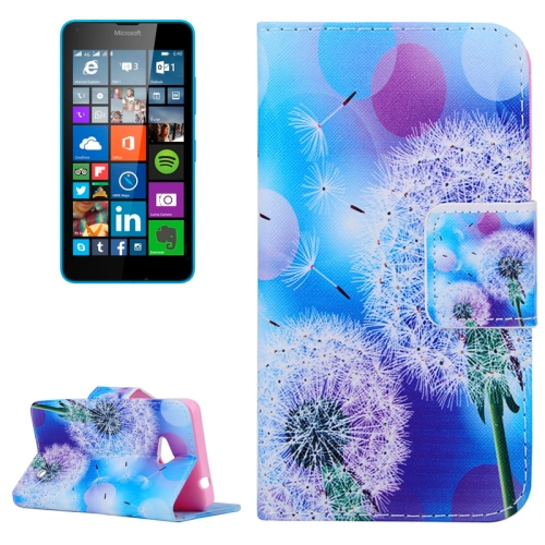 Dandelion Pattern Flip Leather Wallet Case for Microsoft Lumia 640 with Card Slots & Stand (Pattern 6)
