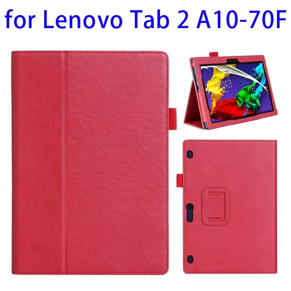 Superior Quality Armband Belt Style Leather Case for Lenovo Tab 2 A10-70F with Card Slots(Red)