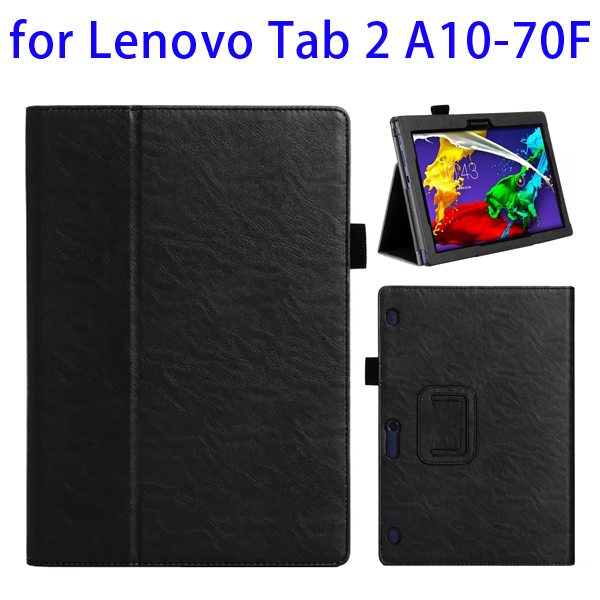Superior Quality Armband Belt Style Leather Case for Lenovo Tab 2 A10-70F with Card Slots(Black)