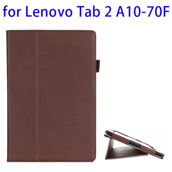 Superior Quality Armband Belt Style Leather Case for Lenovo Tab 2 A10-70F with Card Slots(Brown)