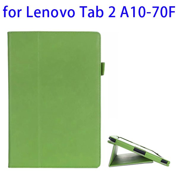 Superior Quality Armband Belt Style Leather Case for Lenovo Tab 2 A10-70F with Card Slots(Dark Green)