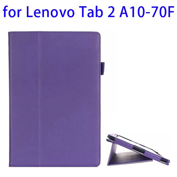 Superior Quality Armband Belt Style Leather Case for Lenovo Tab 2 A10-70F with Card Slots(Dark Purple)