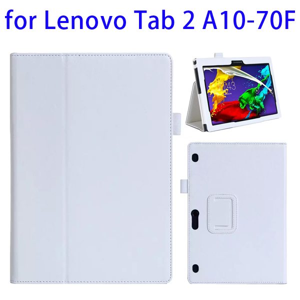 Superior Quality Armband Belt Style Leather Case for Lenovo Tab 2 A10-70F with Card Slots(White)