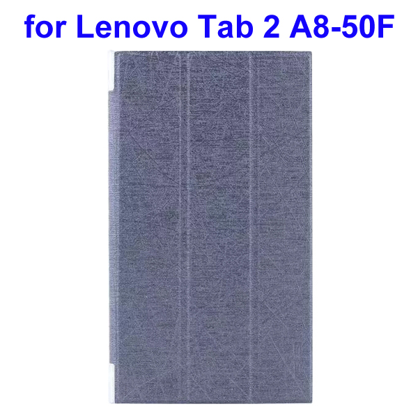 Abstract Line Surface 3 Folding PU Leather Tablet Case for Lenovo Tab 2 A8-50F (Grey)