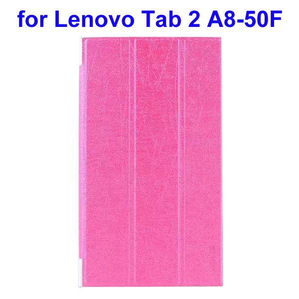 Abstract Line Surface 3 Folding PU Leather Tablet Case for Lenovo Tab 2 A8-50F (Rose)