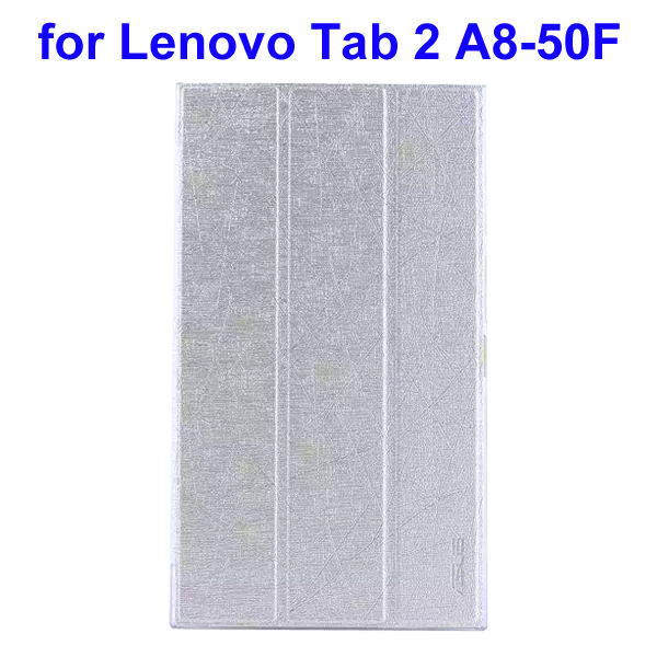 Abstract Line Surface 3 Folding PU Leather Tablet Case for Lenovo Tab 2 A8-50F (Silver)