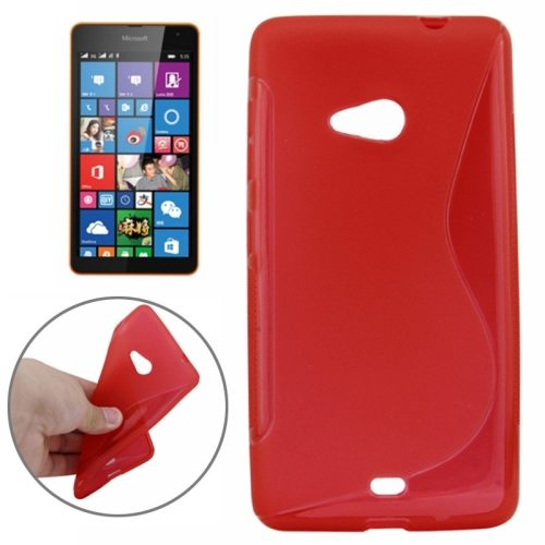 S Line Frosted TPU Protective Case for Microsoft Lumia 535 (Red)