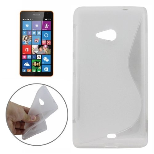 S Line Frosted TPU Protective Case for Microsoft Lumia 535 (Transparent)