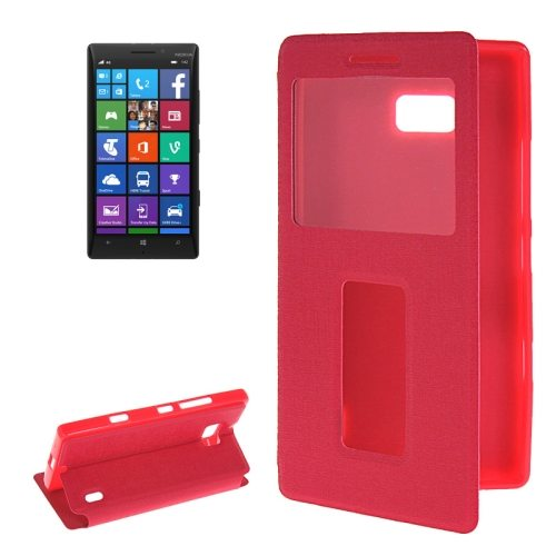 Horizontal Flip Leather Case for Nokia Lumia 930 with Call Display ID & Holder (Rose)