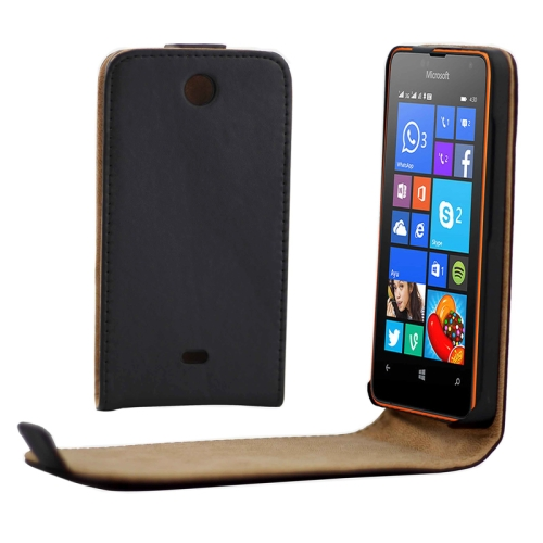Magnetic Snap Vertical Flip Leather Phone Case for Microsoft Lumia 430