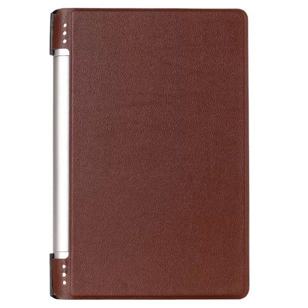 Karst Texture PU Leather Flip Case for Lenovo Yoga 8 B6000 (Brown)