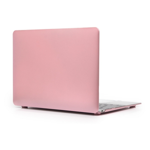 ENKAY Metal Texture Series Hard Shell Plastic Protective Case for Macbook 12 inch (Pink)