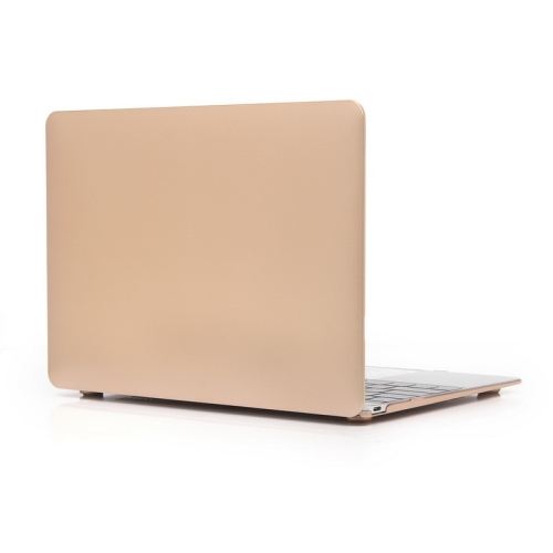 ENKAY Metal Texture Series Hard Shell Plastic Protective Case for Macbook 12 inch (Gold)