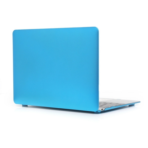 ENKAY Metal Texture Series Hard Shell Plastic Protective Case for Macbook 12 inch (Blue)