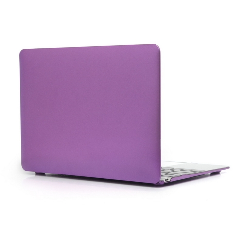 ENKAY Metal Texture Series Hard Shell Plastic Protective Case for Macbook 12 inch (Purple)