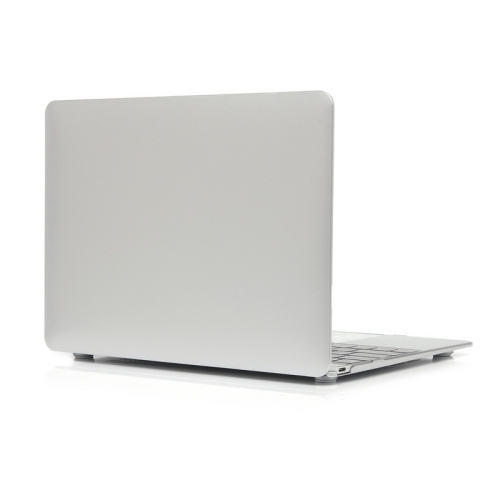 ENKAY Metal Texture Series Hard Shell Plastic Protective Case for Macbook 12 inch (Silver)