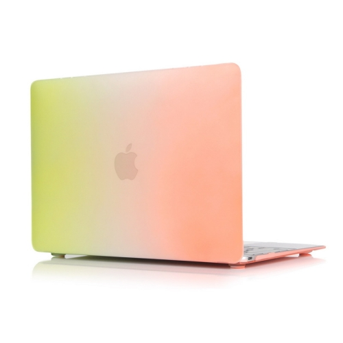 Rainbow Series Color Matching Design PC Protective Case for Macbook 12 inch (Orange + Yellow)