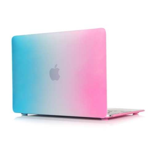 Rainbow Series Color Matching Design PC Protective Case for Macbook 12 inch (Pink + Blue)