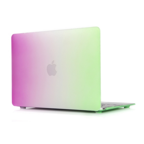 Rainbow Series Color Matching Design PC Protective Case for Macbook 12 inch (Rose + Green)
