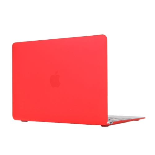 ENKAY Multi Colors Frosted Translucent Protective Hard Plastic Case for The new Macbook 12 inch (Red)
