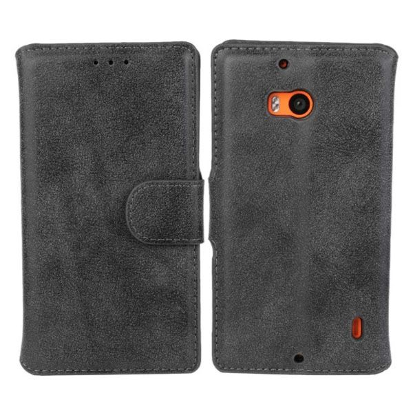 Frosted Wallet Style Flip Leather Mobile Phone Case for Nokia Lumia 930 (Black)