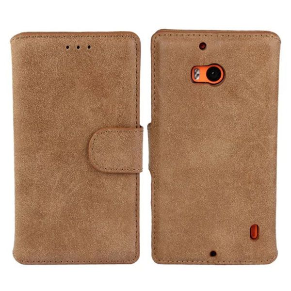 Frosted Wallet Style Flip Leather Mobile Phone Case for Nokia Lumia 930 (Brown)
