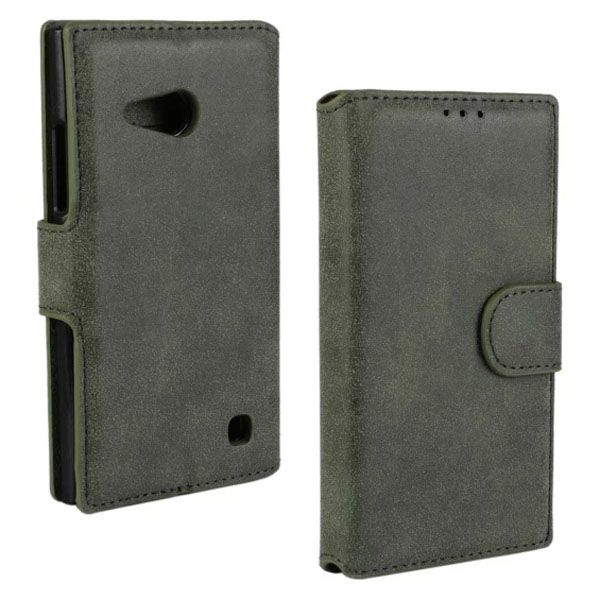 Frosted Wallet Style Flip Leather Case for Nokia Lumia 730 (Green)