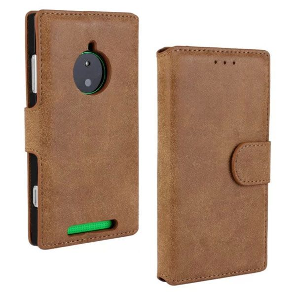 Retro Style Frosted Leather Flip Cover for Nokia Lumia 830 with Card Slots (Coffee)