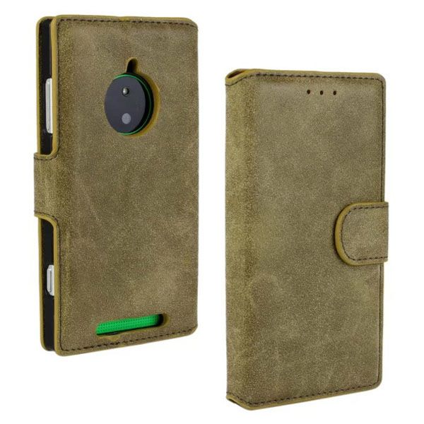 Retro Style Frosted Leather Flip Cover for Nokia Lumia 830 with Card Slots (Brown)
