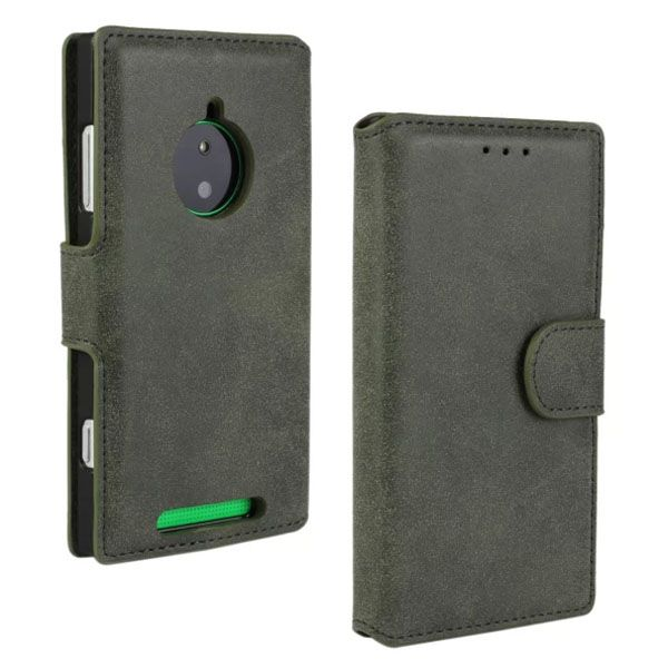 Retro Style Frosted Leather Flip Cover for Nokia Lumia 830 with Card Slots (Grey)