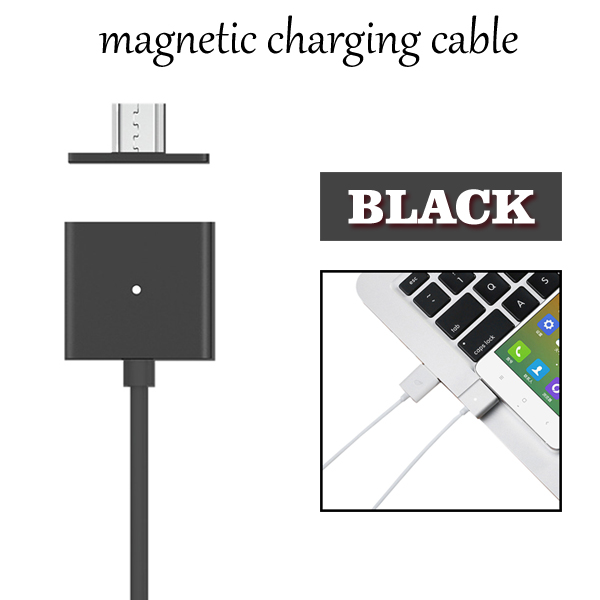 1M Long Android Universal Magnetic Micro USB Charging Cable for Smart Phones (Black)