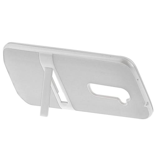 TPU Transparent Protective Kickstand Case for LG G2 (White)