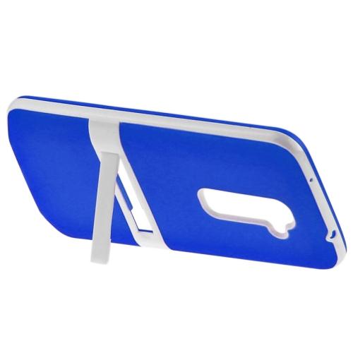 TPU Transparent Protective Kickstand Case for LG G2 (Blue)