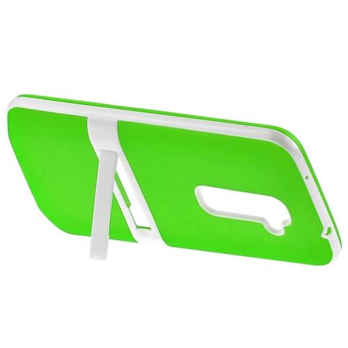 TPU Transparent Protective Kickstand Case for LG G2 (Green)