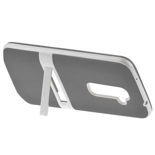 TPU Transparent Protective Kickstand Case for LG G2 (Grey)