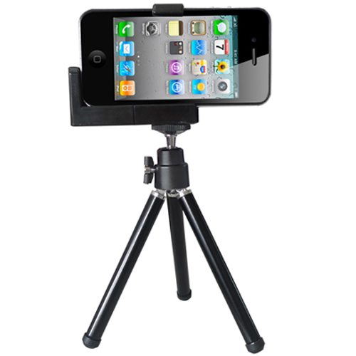 Carry-home Universal Mounting Tripod for iphone and Camera with Metal Holder