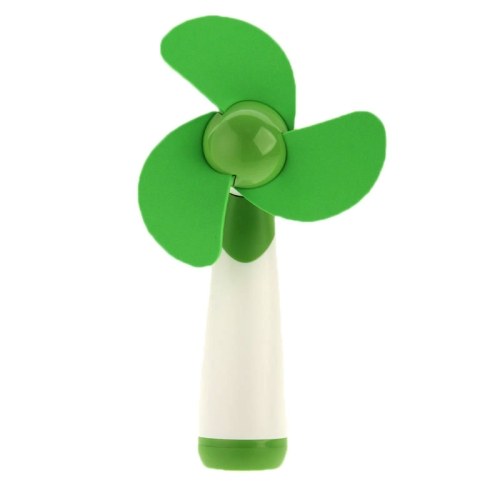 16cm*6CM HAPTIME YGH365B Flower Design Portable Handheld 3-Blade Mini Fan (Green)