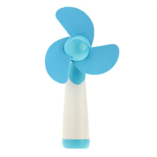 16cm*6CM HAPTIME YGH365B Flower Design Portable Handheld 3-Blade Mini Fan (Blue)