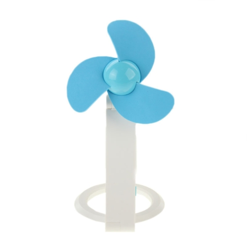 14cm*10cm HAPTIME YGH-505 Desktop Bamboo Dragonfly Design 3-Blade Handheld Portable USB Mini Fan (Blue)