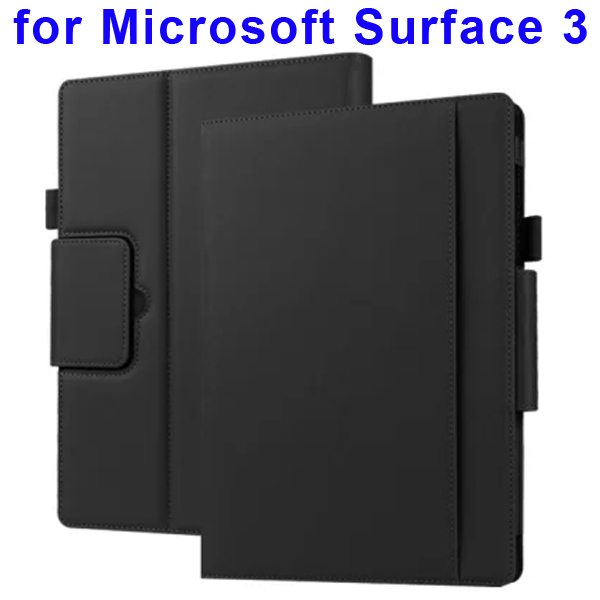 10.8 Inch Protective Flip Leather Case for Microsoft Surface 3 (Black)