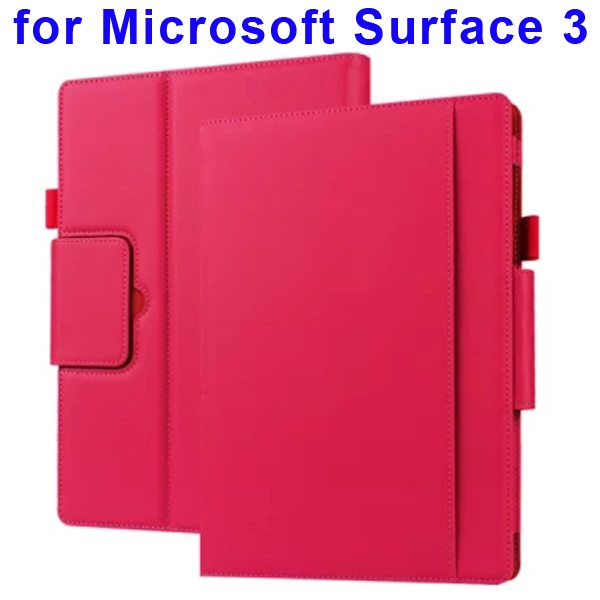 10.8 Inch Protective Flip Leather Case for Microsoft Surface 3 (Red)