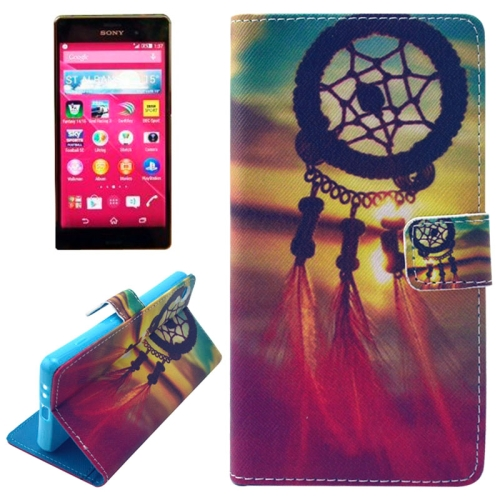 Flip Magnetic Wallet Leather Case for Sony Xperia Z4 with Card Slots (National Style Cap Pattern)