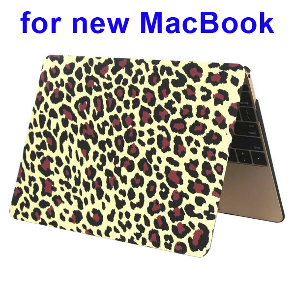 Nice Design Hard Shell Rubberized Cover for The new Macbook 12 Inch(Leopard Pattern One)