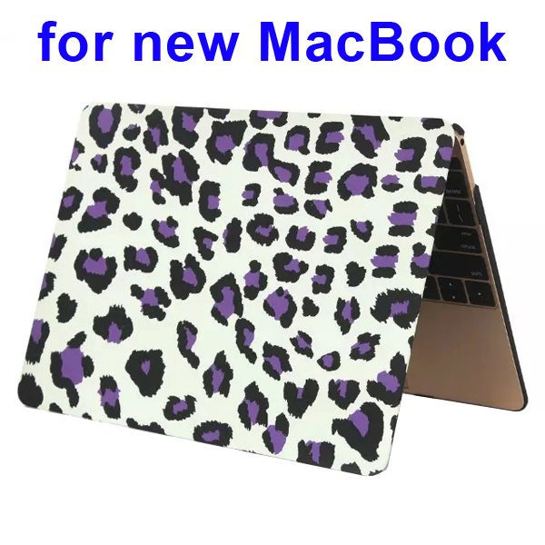 Nice Design Hard Shell Rubberized Cover for The new Macbook 12 Inch(Leopard Pattern Two)