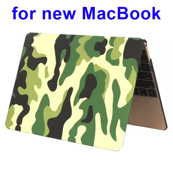 Nice Design Hard Shell Rubberized Cover for The new Macbook 12 Inch(Camouflage Pattern Two)