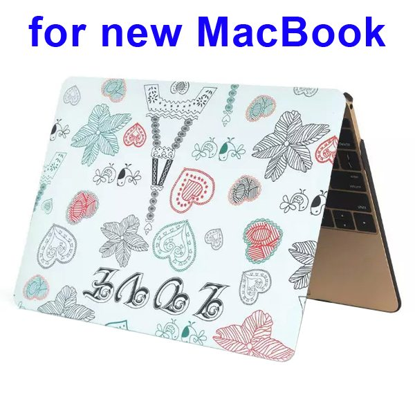 Nice Design Hard Shell Rubberized Cover for The new Macbook 12 Inch(Lovely Pattern)
