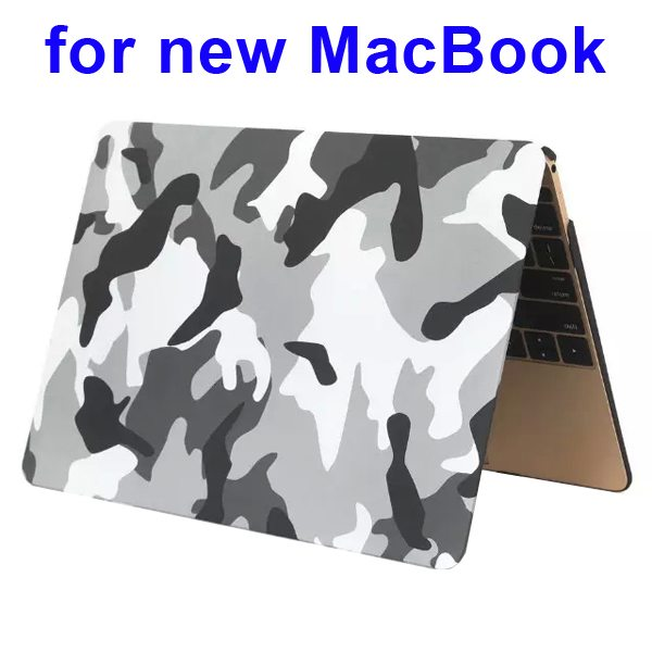 Nice Design Hard Shell Rubberized Cover for The new Macbook 12 Inch(Camouflage Pattern Four)