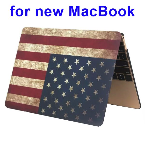 Nice Design Hard Shell Rubberized Cover for The new Macbook 12 Inch(US Flag Pattern)