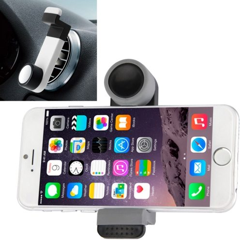 OEM Factory Price Portable Air Vent Car Mount Holder for iPhone 6 /6 Plus / iPhone 5 /5S (Black+Gray)